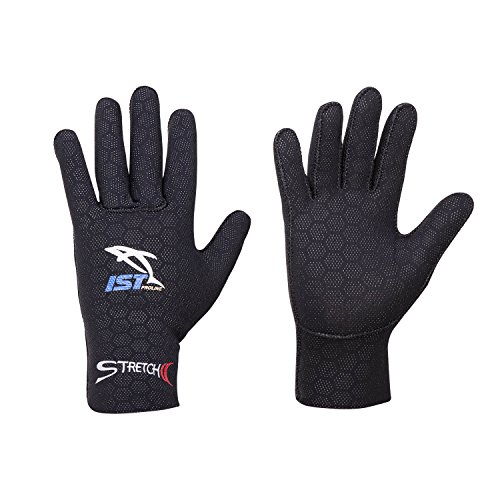 IST 2.5mm Super Stretch Neoprene Gloves with Anti-Slip dots (X-Large/XX-Large) (Super Stretch Neoprene Gloves)