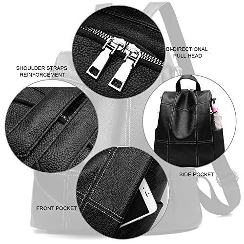 Waterproof Bag Bag Daypacks Travel for Women Lightweight Leather Shoulder Casual Satchel Backpack Purse Brown School Purse wvq6ff