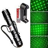 Puntero láser remoto para presentaciones con haces UV verdes y alta potencia 532 nm, linterna para exteriores (incluye batería 18650 + cargador).-