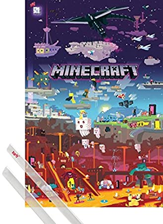 MINECRAFT 24 by 36 inch WORLD BEYOND POSTER