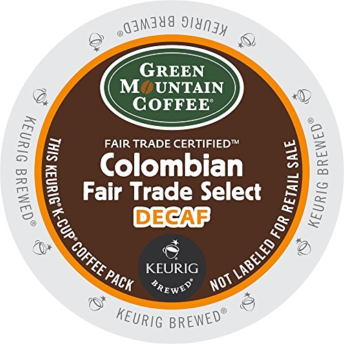 Verdant Mountain Coffee Colombian Fair Trade Select Decaf, Keurig K-Cups (Columbian Fair Trade Select Decaf, 36 Count)
