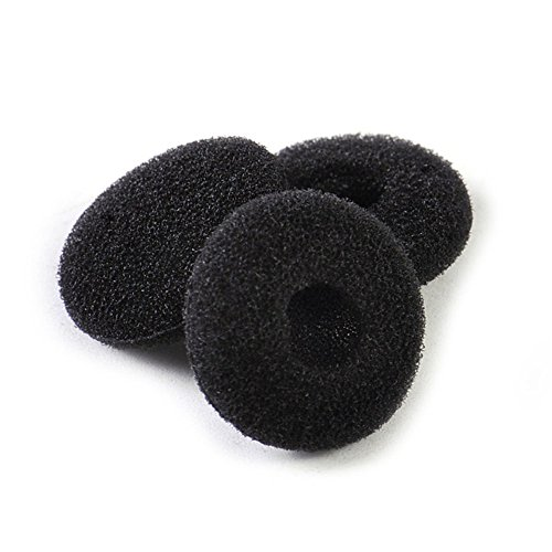 12 Pack(24pcs) Foam Earbud Earpad Replacement Sponge Covers for Earbuds (Black)