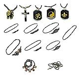 Mandala Crafts Unisex Black Simulated Hematite Stone Bead Necklace