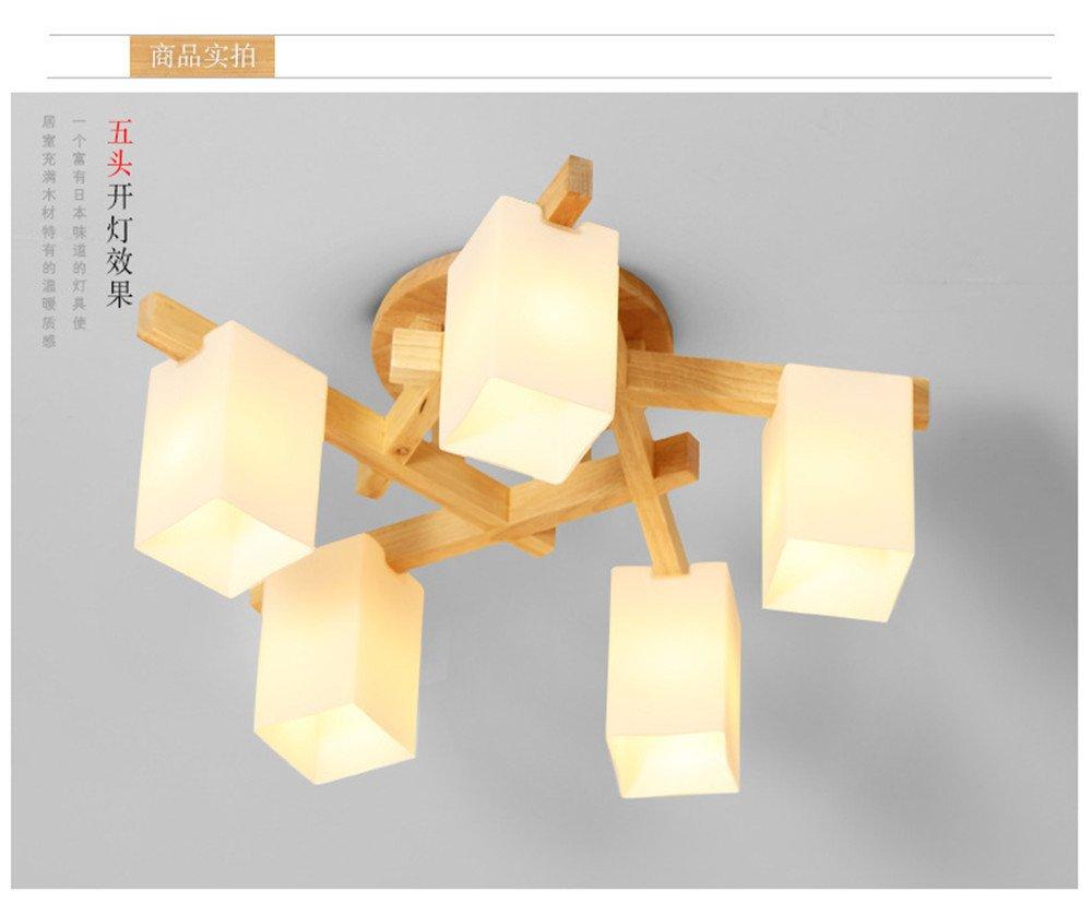 LAMPE LED logs Wohnzimmer Decke lampen Licht Holz 620*h 300 mm BRIGHTLLT Einfache Holz Schlafzimmer Lampen