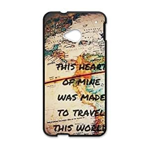 Canting_Good Retro world map Custom Case Shell Skin for HTC One M7(Laser Technology)
