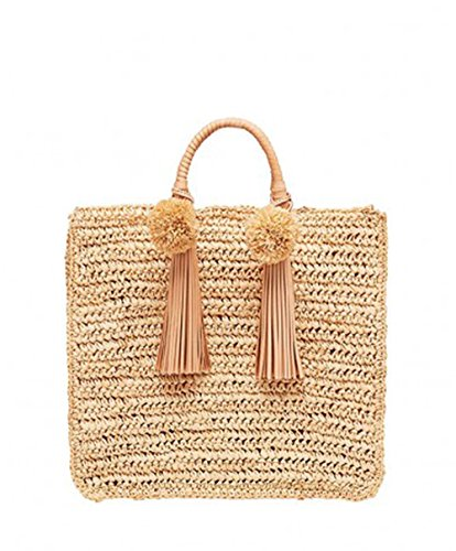 - Loeffler Randall Women's Raffia Straw Travel Tote in Natural