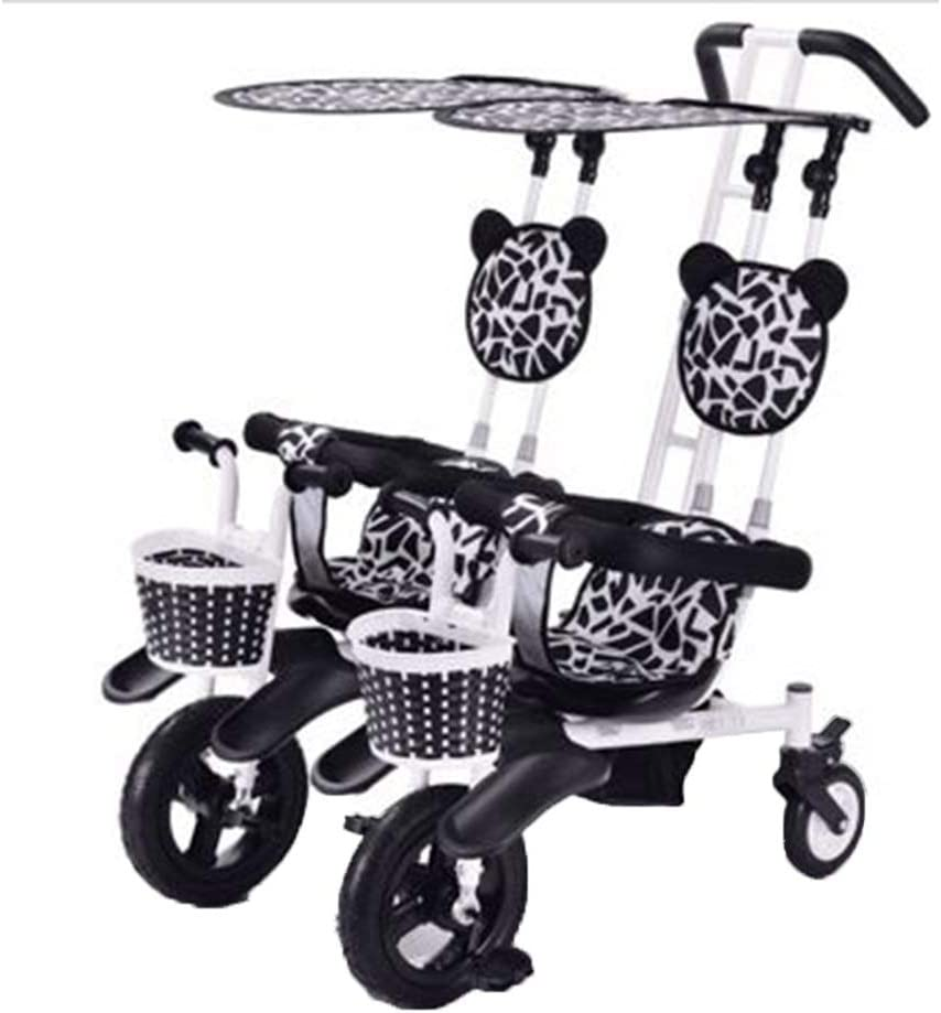YUMEIGE triciclos Triciclo para niños Gemelos Peso de Carga 100 Kg 1-6 años Regalo de cumpleaños para niños Cochecitos Trike para niños pequeños con Asiento de Seguridad de Tres Puntos (niño/niña) D