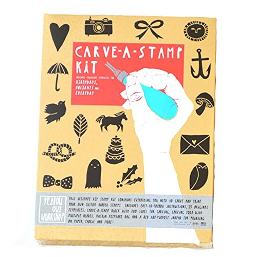 DIY Stamps - Stationary Crafts - Carve-A-Stamp Kit - Create Your Own Rubber Stamp - Stamp Kit Rubber