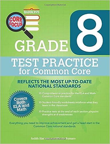 Barron's Core Focus: Grade 8 Test Practice for Common Core: Judith ...