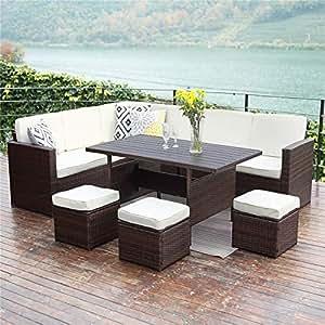 Amazon Com Wisteria Lane Patio Sectional Furniture Set 10 Pcs