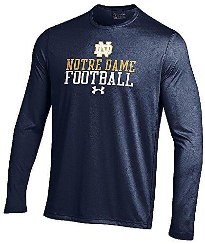 Notre Dame Fighting Irish Navy LineBacker Under Armour Long Sleeve Heatgear T Shirt (M/40)