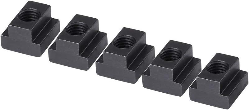Negra Adecuada para Ranura en T Nikou Tuerca de Ranura en T oxidada con Ranura en T de 5 Piezas con Rosca M8//10 M8 en la Mesa de la m/áquina Herramienta