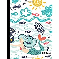 Notebook: Mermaid Kawaii Maritime Princess Girl (Composition Notebook Daily Blank Lined Pages Journal): Paperback: Paper…