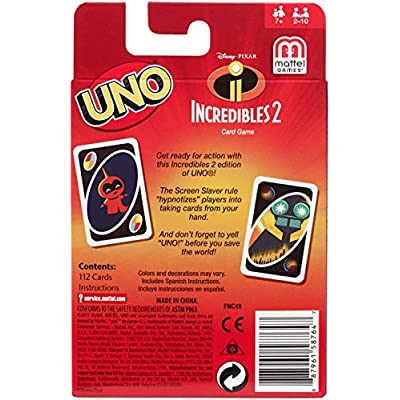 UNO Incredibles 2 Card Game: Toys & Games