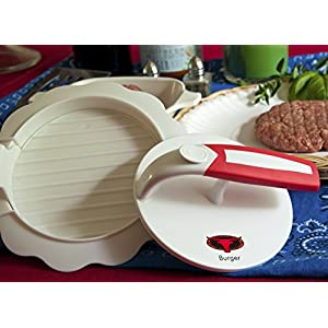 Burger !! Hamburger Press Patty Maker: large round burger mold kit