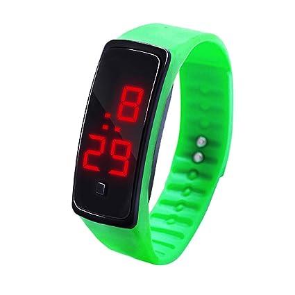 DRESS_start Reloj Digital con Pantalla Digital LED Reloj de Silicona Reloj electrónico Deportivo para niños niños