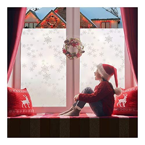 Rabbitgoo Snowflake Decorations Winter Wonderland Decorations Holiday Window Clings Snowflake Decal for Home 17.5