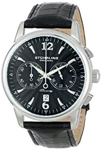 """Stuhrling Original Men's 186L.33151 """"Symphony Aristocrat"""" Stainless Steel Watch with Leather Band"""