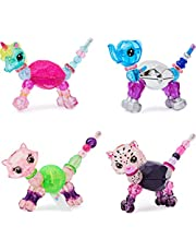 Twisty Petz Beauty, 4-Pack with Unicorn, Elephant, Snow Leopard and Kitty Collectible Bracelets with Makeup, Amazon Exclusive