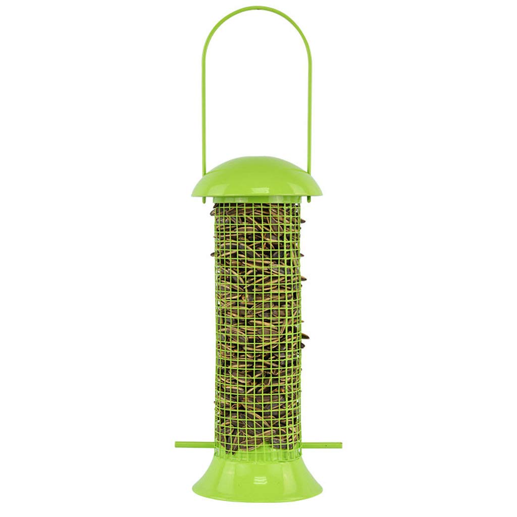 BLRYP Wild Bird Seed Feeder Bird Feeder Park Bird Supplies Pet Products Bird Wild Outdoor Garden Hanging Ports Seed Plastic Feeder Nut,Fat Ball,Cage,Garden