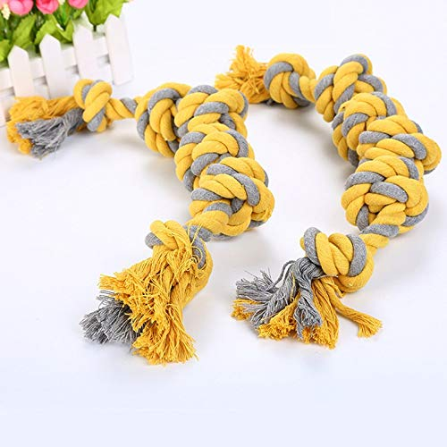 Dog Rope Toy Knot Puppy Chew Toys Teeth Cleaning Pet Playing Ball for Medium Large Dogs Toys Interactive Training Pet Supplies