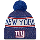 finest selection ac5c9 007a6 New Era Knit New York Giants Biggest Fan Redux Sport Knit Winter Stocking  Beanie Pom Hat