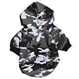 Zrong Pet Dog Cat Puppy Warm Camouflage Hoodie Hooded Sweaters Coat Costume Clothes Apparel