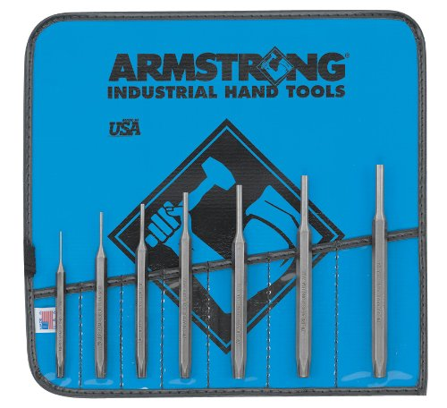 Armstrong 70-553 Tool Steel Pin Punch Set, 7-Piece - Armstrong Industrial Hand Tools