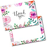 Doodlecards Thank You Cards Thankyou Adult Floral Postcards Cards Pack of 20 Postcards and Envelopes