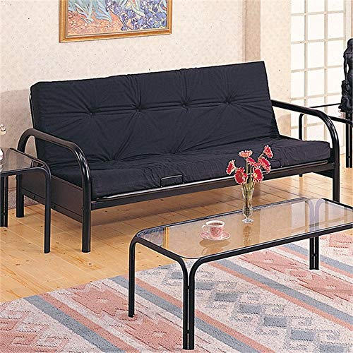 BOWERY HILL Metal Casual Futon Frame in Glossy Black by BOWERY HILL