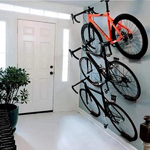 Bicycle Wall Stands Metal Bracket Hook Stands Road Mountain Bike Wall Hanging Bicycle Rack Holder Bike Showing Stand Hanger for Garage and Apartment Indoor Storage System XIXIXI Bike Hanger