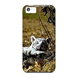 Tpu Fashionable Design White Tiger Cub Rugged Case Cover For Iphone 5c New