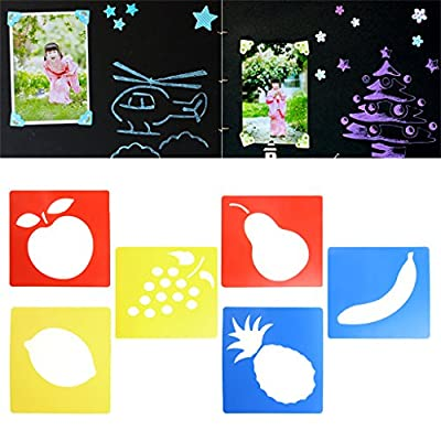 HOWWOH Painting Tool, 6Pieces Plastic Picture Drawing Template Stencils Rulers Painting Kids DIY Gift - Color Randomly: Home & Kitchen