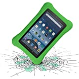 LTROP Compatible Kids Case for All-new Fire HD 8 2018/2017, Lightweight Shockproof Case Cover for Fire 8 inch Tablet (8th Generation - 2018 Release & 7th Gen - 2017 Release), Green