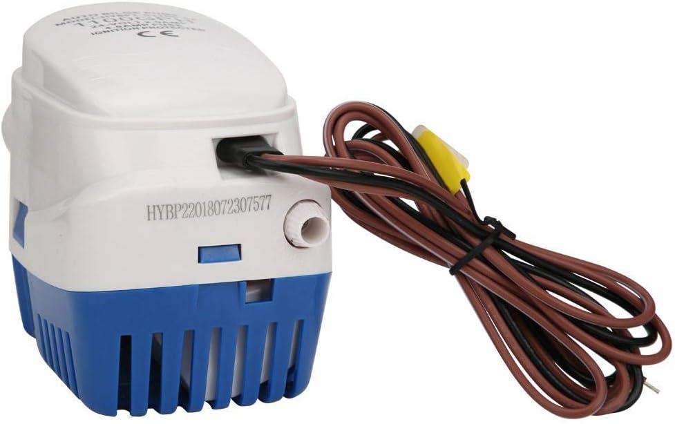 Keenso Bomba de Agua de sentina HYBP2-G1100-02, Bombas de achique automáticas Bomba de yate de Agua Aguas residuales en Miniatura Autocebante Alto Flujo Sumergible 24V