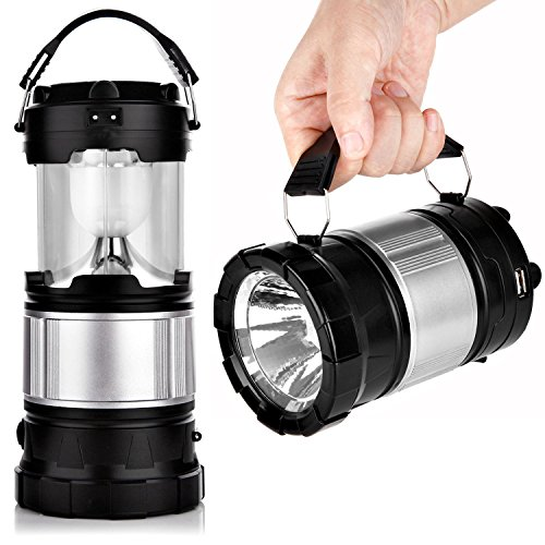 APPHOME Portable Outdoor LED Camping Lantern Solar Lamp Lights Handheld Flashlights with Rechargeable Battery for Backpacking, Hiking, Fishing, Emergencies (Outdoor Lantern Lights)