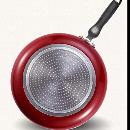Poêles à frire Set Wok for indicateur de point chaud, antiadhésif, 26CM / 28CM, noir La poêle (Taille : M)