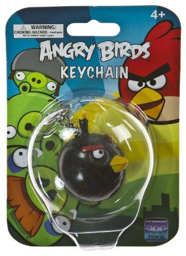 "Black Bird ~2"" Mini-Figure Keychain: Angry Birds Keychain Series"
