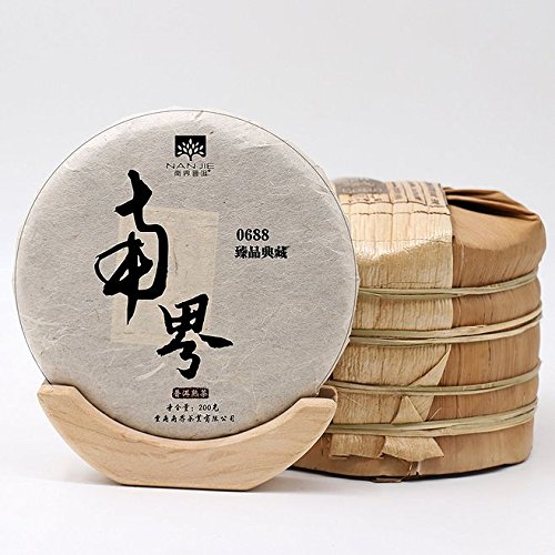 Dian Mai Southland Puer Falcon Collection Pure Spring Tea Fermenting 5 Cakes/Collection Wooden Box 200g/Cake Total 1000G南界普洱 臻品典藏 纯古树春茶料发酵 5饼/提送收藏木箱200克/饼共1000G