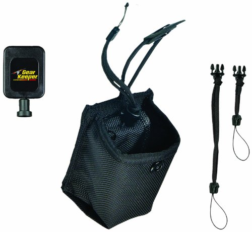 Gear Keeper HR9-2041 Small Retractable Holster for Dog Training Transmitters, Cameras Belt and Strap Mount with 2 QC Lanyard Accessories