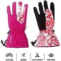 Mounchain Unisex Anti-Slip PU Palm & Polyester Breathable Ski Gloves