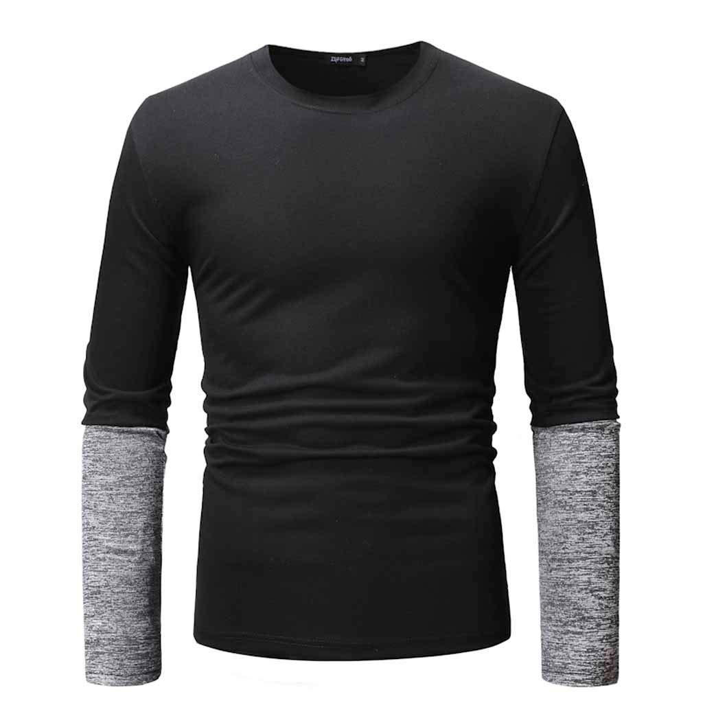 Camiseta De Manga Larga para Hombre Camiseta De AlgodóN Camisa con Top Entallado Y Blusa Superior: Amazon.es: Ropa y accesorios