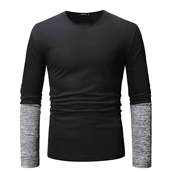 Camiseta De Manga Larga para Hombre Camiseta De AlgodóN Camisa con ...