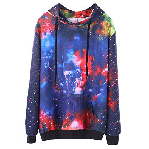 (CHAOHAO@ Ladies Hooded Hooded Sweater 3D Autumn Europe and The United States New Plus Fertilizer XL Women's Fat Mm Halloween Women's Hooded Sweater)