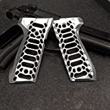Beretta 92/96 Series Brushed Aluminum Cobra Skeleton Grips