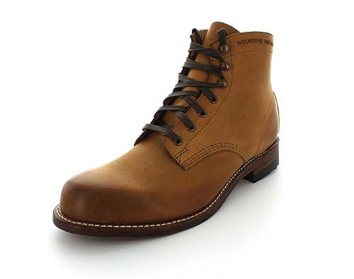7536d622038 Wolverine 1000 Mile Men's Plain Toe Tan Boots
