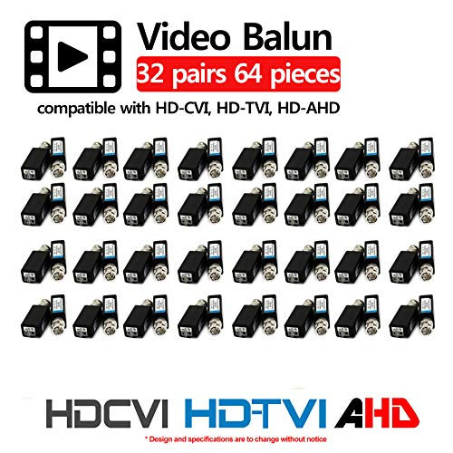 HDVD 32 Pairs Mini CCTV BNC Video Balun Transceiver Cable Push Button Terminal (32 Pairs) by HDVD (Image #1)