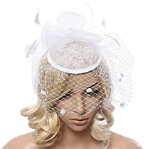 Ukerdo Fascinators Hat Headband Tea Party Derby Wedding Hair Accessories for Women