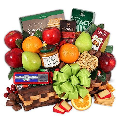 GourmetGiftBaskets.com Premium Fruit Basket - Gourmet Gift Baskets Prime - Fruit Baskets - Gourmet Food Gift Baskets Prime - Birthday, Christmas, Sympathy, Men, Women, Family