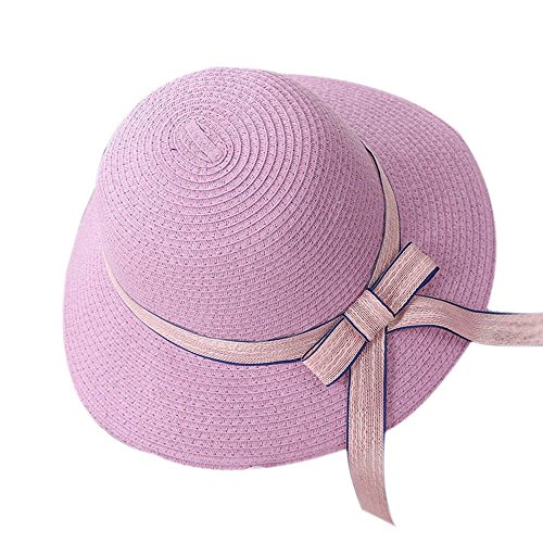 LOVEHATS Fashion Outdoor Women Cap Foldable Bowknot/Ribbon Decoration Suncreen Summer Beach Straw Hat (Lrg New Era)